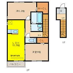 グラッツィア[2階]の間取り