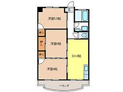 ファミール上松[4階]の間取り