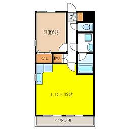 シーバンス[4階]の間取り