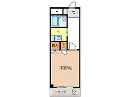 フォーブル三里[6階]の間取り