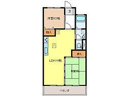 ロア−ルアンドウII[1階]の間取り