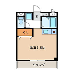 サンモール服部[2階]の間取り