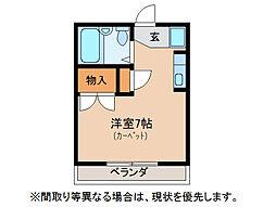 レジオン鶉[2階]の間取り