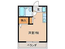 レジオン鶉[1階]の間取り