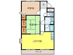 グランチェスタ43[2階]の間取り