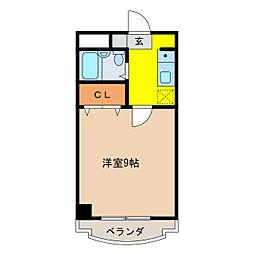 エクセル香蘭[3階]の間取り