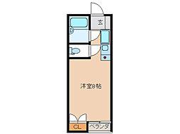 SKYROCKETII[1階]の間取り