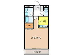 コンフォーレユー[2階]の間取り