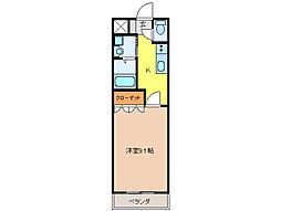 ソルティ1[2階]の間取り
