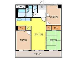 CASAキサラギ[2階]の間取り