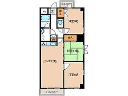ハイツ秋桜[2階]の間取り