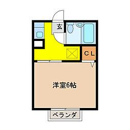 シティハイム五反田[2階]の間取り
