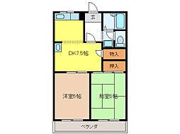 柿沢ハイツA[1階]の間取り