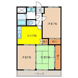 ア・ドリーム多田[1階]の間取り