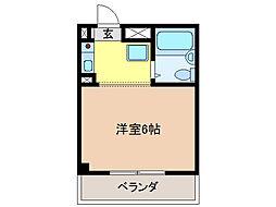 楽天地マンション[5階]の間取り