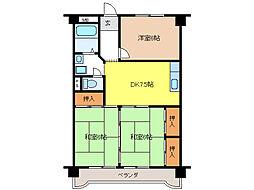 川村ビル[4階]の間取り