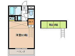 アメニティー・ボックス[3階]の間取り