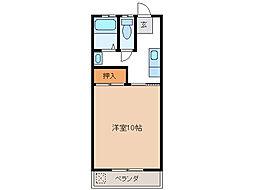 小林ハイツ六軒[2階]の間取り