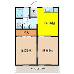 ハイユニメント大塚[1階]の間取り