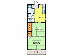 アサノハイツ[2階]の間取り