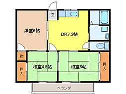 サントピア新栄[1階]の間取り