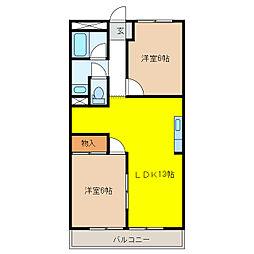 ハイツ梅田[1階]の間取り