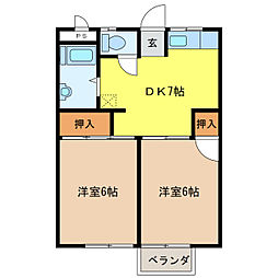 メゾン金武[2階]の間取り