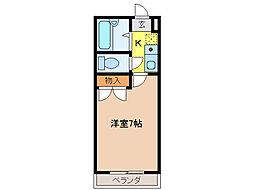 DEUXIEMECONFORT[3階]の間取り