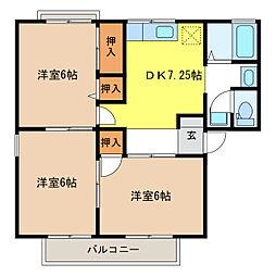 セジュール林A・B[1階]の間取り