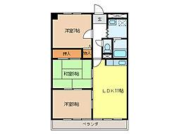 ルーミー21[4階]の間取り