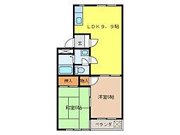 アーデルM[3階]の間取り