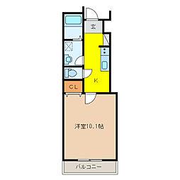 蘇原寺島町M様新築アパートII[1階]の間取り
