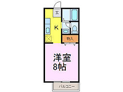 茨城県古河市小堤の賃貸アパートの間取り