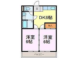茨城県古河市久能の賃貸アパートの間取り