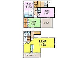JR東北本線 古河駅 3.9kmの賃貸一戸建て 1階3LDKの間取り