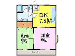 サンワハイツ6[2階]の間取り