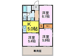 [一戸建] 茨城県古河市中田 の賃貸【/】の間取り