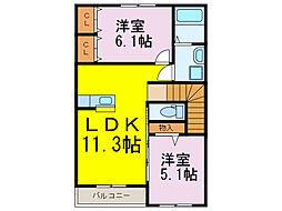 コーダフィオーレ[2階]の間取り