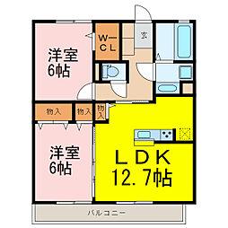 D-room原町[2階]の間取り