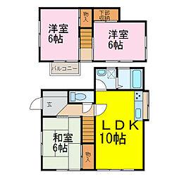 [一戸建] 茨城県古河市大山 の賃貸【/】の間取り