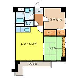 ハッピーコート加古川[4階]の間取り