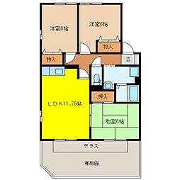 23番館 A・B[1階]の間取り