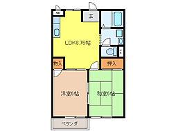 K`S HOUSE[2階]の間取り