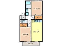 ミレニアムKN[2階]の間取り