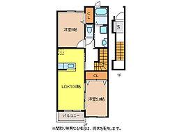 ヌーベルバーグII B棟[2階]の間取り