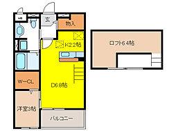 フォレスト・ヒルズ C[2階]の間取り