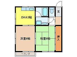 ピュア浅野[2階]の間取り