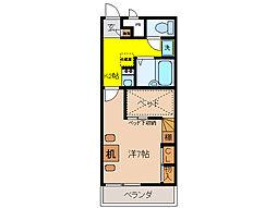 レオパレスrejoice[1階]の間取り