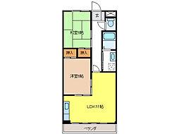 青木マンション[2階]の間取り