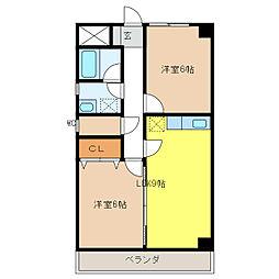 レフィナードNY[2階]の間取り